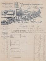 21 1290 DIJON COTE D OR 1906 Construction De Fours J. DUPIC Ucc MARSAT Route De Langres A VAIRET BAUDOT De CIRY LE NOBLE - France