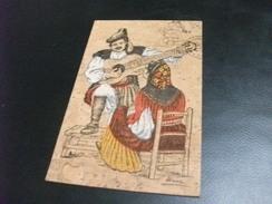 COSTUMI SUONATORE DI CHITARRA OLIENA  MASARI  CARTOLINA SUGHERO - Cartoline
