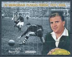 2007. In Memoriam Ferenc Puskas 1927-2007 - Commemorative Sheet - Feuillets Souvenir