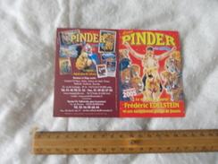 Calendrier Cirque Pinder Jean Richard 2005 - Calendars