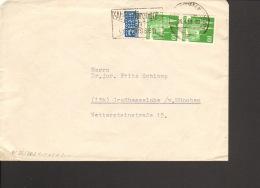 Bizone 2 X10 Pfg. Bauten U.Notopfer Auf Fernbrief 1950 Aus Ludwigshafen Serienstempel:Absenderangabe Nicht Vergessen - Bizone