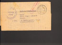 Franz.Zone Fernbrief V.Amtsgericht Trier Von 1948 Mit Gebühr Bezahlt Stempel - Zone Française