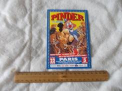 Invitation Au Cirque Pinder Jean Richard Paris 2002 2003 - Biglietti D'ingresso