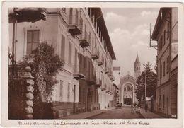 A010 BUSTO ARSIZIO VARESE VIA LEONARDO DA VINCI CHIESA DEL SACRO CUORE ANIMATA 1936 - Busto Arsizio
