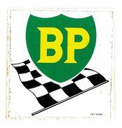 AUTOCOLLANT AUTOMOBILE BP HUILE - Stickers