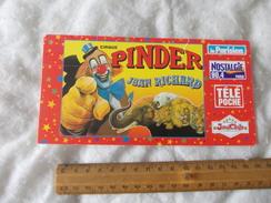 Invitation Au Cirque Pinder Jean Richard Paris 1 Decembre 1998 - Biglietti D'ingresso
