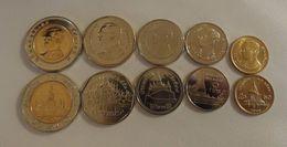 THAILANDIA TAILANDIA SERIE 5 MONETE  CON BIMETALLICA FDC UNC - Thaïlande