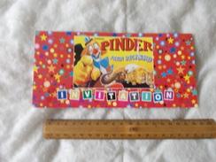 Invitation Au Cirque Pinder Jean Richard Paris 16 Decembre 1998 - Tickets D'entrée