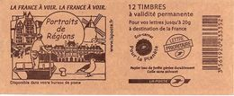 FRANCE - BOOKLET / CARNET, Yvert 3744b-c10 - 2007 - Marianne Des Français, 12x TVP Red - Booklets