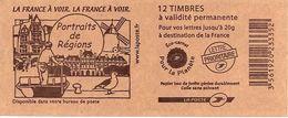 FRANCE - BOOKLET / CARNET, Yvert 3744b-c10 - 2007 - Marianne Des Français, 12x TVP Red - Libretti