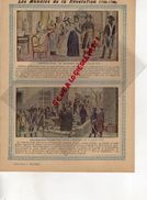 PROTEGE CAHIER -LES ANNALES DE LA REVOLUTION-1789-1799- ARRESTATION DE MADAME ROLAND-GIRONDINS POUR L' ECHAFAUD-1793- - Buvards, Protège-cahiers Illustrés