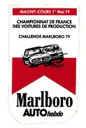 AUTOCOLLANT AUTOMOBILE MAGNY-COURS MAI 1979 CHAMPIONNAT CHALLENGE MARLBORO - Autocollants