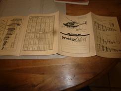 1945 Protège Cahier Pub. Hélicoptère ALOUETTE Avec Table Multiplication Et Systèmes Mesures (liquides Et Capacité) - Transport