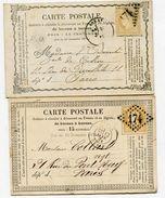 PAS DE CALAIS De ARRAS GC 174 Sur N°59 Sur 2 CP De 1874 Et 1875 - 1849-1876: Periodo Classico