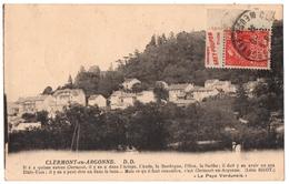 TIMBRE.EXPOSITION COLONIALE De PARIS 1931 Avec PUBLICITE CONDIMENTS GREY-POUPON Sur C.P De CLERMONT- En -ARGONNE (55) - Reclame