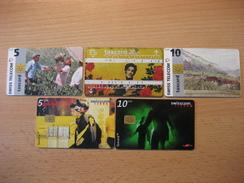 TK Schweiz 5 Verschiedene Taxcard Mit Chip Gebraucht - Switzerland