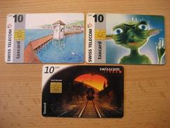 TK Schweiz 3 Verschiedene Taxcard Mit Chip Gebraucht - Switzerland