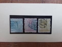 CINA IMPERO 1885 Nn. 4-5-6 Yvert Timbrati + Spedizione Prioritaria - Usati