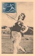 D32148 CARTE MAXIMUM CARD 1950 HUNGARY - JAVELIN ATHLETICS CP ORIGINAL - Athletics