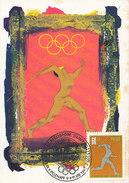 D32149 CARTE MAXIMUM CARD 1966 POLAND - JAVELIN ATHLETICS CP ORIGINAL - Athletics