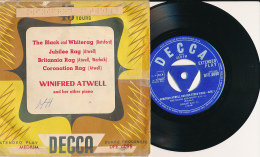 """Super 45 T, WINIFRED ATWELL And Her Other Piano, """"The Black Ans Whiterag, Jubilee Rag, Britannia Rag..."""" DECCA, DFE 6098 - Sonstige - Englische Musik"""