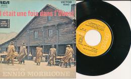 """Super 45 T, ENNIO MORRICONE, """"Il était Une Fois Dans L'Ouest, L'Homme à L'Harmonica"""", RCA 49.622 - Filmmusik"""