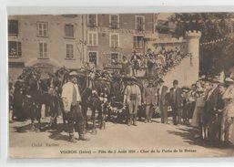 Isère - 38 - Voiron Fete Du 5 Aout 1934 Char De La Porte De La Buisse - Voiron