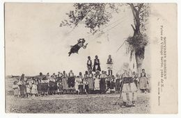 SERBIA BALKANS, Ethnic Games At Serbian Village Festival 1910s Vintage Old Postcard - Serbia