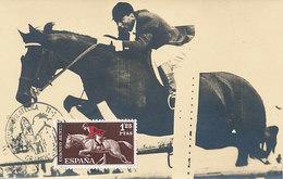 D32150 CARTE MAXIMUM CARD 1964 SPAIN - HORSE JUMPING CP PHOTOCARD - Horses