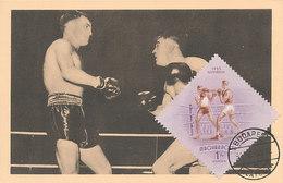 D32151 CARTE MAXIMUM CARD 1954 HUNGARY - BOXING CP ORIGINAL - Boxe