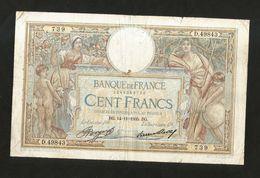 FRANCE - BANQUE De FRANCE - 100 FRANCS  (BG. 14 - 11 - 1935)  LUC OLIVER MERSON - 1871-1952 Antichi Franchi Circolanti Nel XX Secolo
