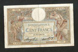 FRANCE - BANQUE De FRANCE - 100 FRANCS  (EU. 28 - 3 - 1935)  LUC OLIVER MERSON - 1871-1952 Antichi Franchi Circolanti Nel XX Secolo