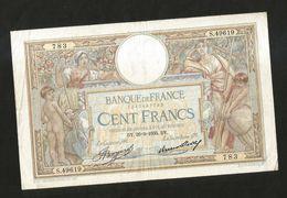 FRANCE - BANQUE De FRANCE - 100 FRANCS  (DY. 26 - 9 - 1935)  LUC OLIVER MERSON - 1871-1952 Antichi Franchi Circolanti Nel XX Secolo