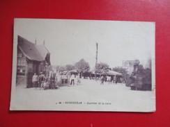 CPA 14 OUISTREHAM QUARTIER DE LA GARE TRAIN VAPEUR BELLE ANIMATION - Ouistreham