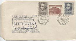 CSR # 737-9 FDC. Beethoven Prager Frühling Musikfest Ersttagssonderstempel Ub 'a' - FDC