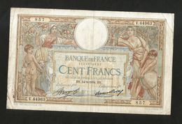 FRANCE - BANQUE De FRANCE - 100 FRANCS  (BY. 14 - 6 - 1934)  LUC OLIVER MERSON - 1871-1952 Antichi Franchi Circolanti Nel XX Secolo