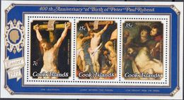 Cook Islands 1977 400th Anniv Peter Paul Rubens Easter Art Paintings Religions Celebrations Christianity S/S Stamps MNH - Easter