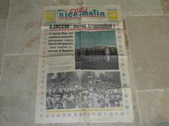2 Feuilles Du Journal CORSE NICE MATIN  1969- SOUVENIR NAPOLEON - Journaux - Quotidiens