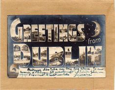 Ireland, Greetings From DUBLIN,  CPA   Multivues Année1905 état Impeccable - Dublin