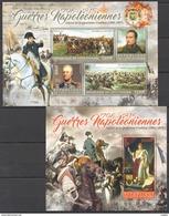 S205 2016 COTE D'IVOIRE MILITARY & WAR NAPOLEON QUATRIEME COALITION 1KB+1BL MNH - Napoléon