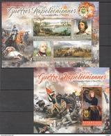 S207 2016 COTE D'IVOIRE MILITARY & WAR NAPOLEON CAMPAGNE D'ITALIE 1796 1KB+1BL MNH - Napoléon