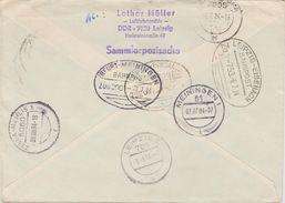 "11 194 Eilbrief DDR Bahnpost ""ERFURT-MEININGEN"" Und ""LEIPZIG-EISENACH"" 1984 - [6] République Démocratique"