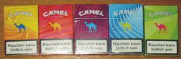 Paquets VIDES De Cigarettes Camel X 5  Série Limitée Paquet De 23 Cigarettes  Allemagne 2016 - Cigarettes - Accessoires