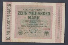 Deutsches Reich Rosenbg: 114c, Wasserzeichen Ringe Gebraucht (III) 1923 10 Milliarden Mark (9131185 - [ 3] 1918-1933 : Weimar Republic