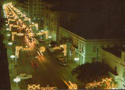 Libya - Postcard  Written   - Nocturnal View Of Sciara Omar El Muktar - 2/scans - Libya