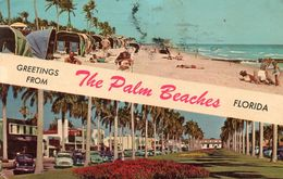 Cpsm 1970, Multivues Greetings From The PALM BEACH   Timbre Via Air Mail 13c Kennedy  (52.43) - Palm Beach