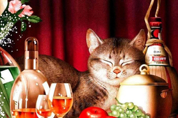 7.2 Makoto Muramatsu Cat Modern Rare New Postcard New Animals Celebration - Cats