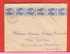 Timbre  France Chaîne Brisée 6 Timbres à 50 C Tarif 3,00 F 1946 Oblitération Comblanchien 71  2 Scans - Postmark Collection (Covers)