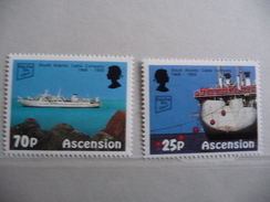 """Ascension 1993 N° 584 Et 586 Y&T  """"Cable Ship """"  Neuf 2v. - Ascension (Ile De L')"""