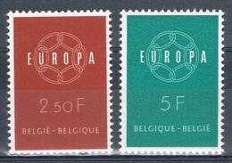 Année  1959 - COB 1111** à 1112**  - Europa - Chaîne De 6 Maillons  - Cote  2,30€ - Unused Stamps